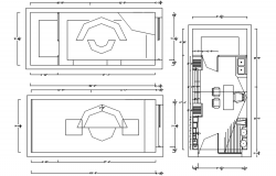 Drawing of cabin plan with detail dimension in autocad