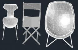 Drawing of chair design in autocad