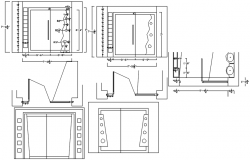 Drawing of furniture details in autocad