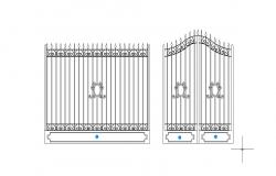 Drawing of gate design in autocad