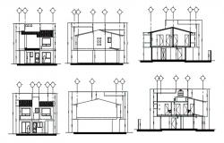 AutoCAD House Elevation Drawings