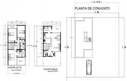 Drawing of house plan in autocad