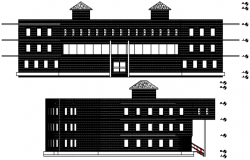 Drawing of institute design in dwg file