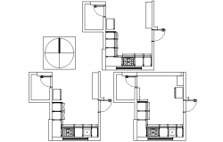 Drawing of kitchen design in dwg file