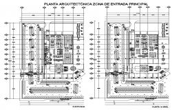 Drawing of mall design plan with detail dimension in autocad