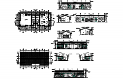 Drawing of office plan 21.76mtr x 7.03mtr with detail dimension in dwg file
