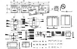 Office Drawing Plan In DWG File