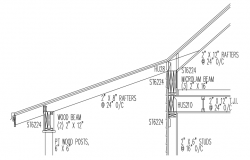 Drawing of structure detail in autocad