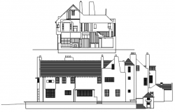 Drawing of the bungalow design in dwg file