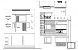 Drawing of the bungalow in autocad file