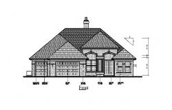 Drawing of the house in autocad