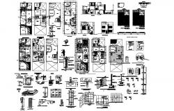 Drawing of the house plan in dwg file