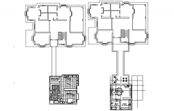 Drawing of the house with detail dimension in dwg file