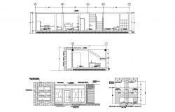 Drawing of the modern house with furniture in dwg file