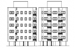 Drawing of the multistorey residential building in AutoCAD