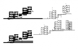 Drawing of the residential apartment in dwg file