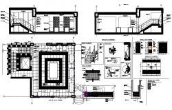 Showroom layout plan in AutroCAD