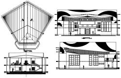 Drawing of university design in AutoCAD
