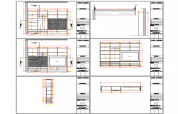 Drawing room furniture wardrobe detail elevation view detail dwg file