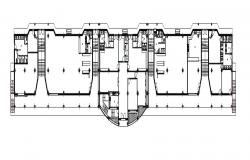 Drawings details 2d view of sports building floor layout plan dwg file