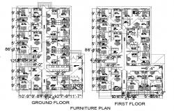 Drawings details of house living apartment layout plan in autocad file