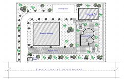 Drawings details of housing building area dwg file