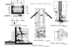 Dream house chimney detail dwg file