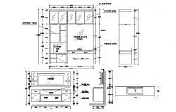Dressing Cupboard CAD Drawing
