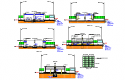 Drinking water treatment plant elevation dwg file