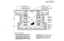Drop hole sewer detail section 2d view layout autocad file