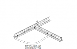 Dry wall and gypsum interface detail dwg file