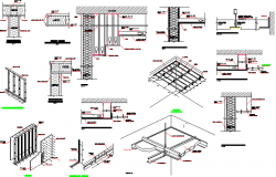 Dry wall construction system typical details dwg file
