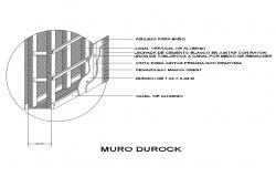 Du rock wall construction cad drawing details dwg file