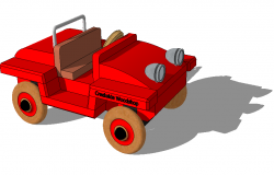 Dump truck toy detail 3d model layout sketch-up file