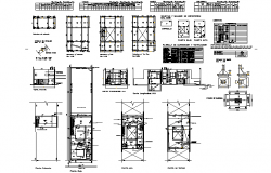 Duplex house plan detail dwg file