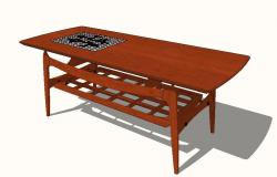 Dutch inlay coffee table 3d block cad drawing details skp file