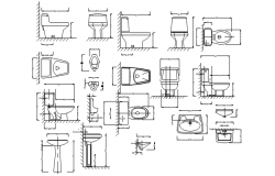 Dwg file of Sanitary detail