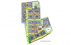 Dwg file of Site layout plan of residential apartment
