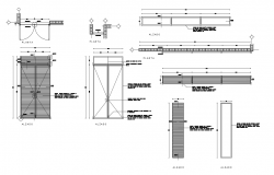 Dwg file of a construction detail of door and windows