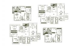 Dwg file of a house with furniture detail