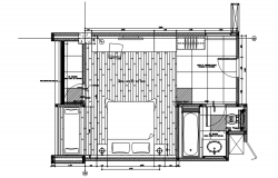 Dwg file of bedroom layout