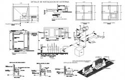 Dwg file of cistern installation detail