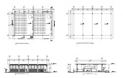 Dwg file of class room layout with elevations