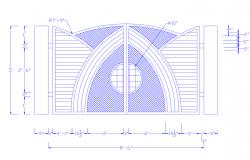 Dwg file of main gate design