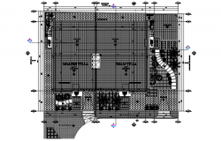Dwg file of penthouse roof plan