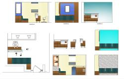 Dwg file of reception area of office with elevations