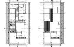 Dwg file of residential bungalow