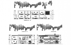 Dwg file of residential elevation