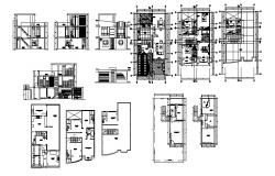 Dwg file of residential house with sections