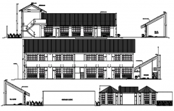 Dwg file of school design with elevation details